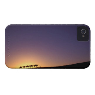 Silhouette of camel caravan on the desert at Case-Mate iPhone 4 case