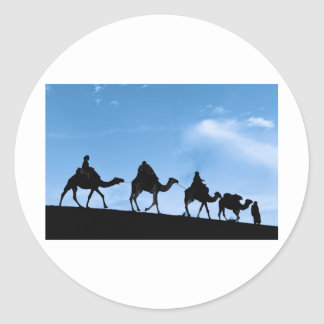 Silhouette of Camel Caravan Sticker