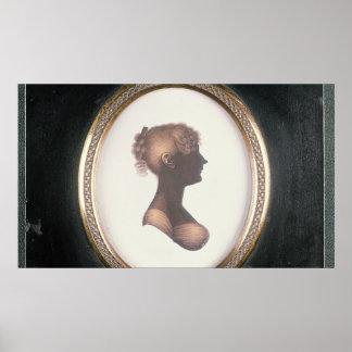 Silhouette of Cassandra Austen, c.1809 Poster
