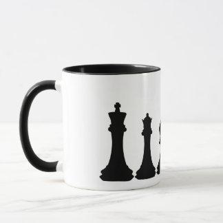 Silhouette of Chess Pieces Chessman Mug