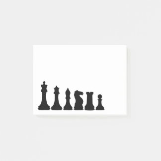 Silhouette of Chess Pieces Chessman Post-it Notes