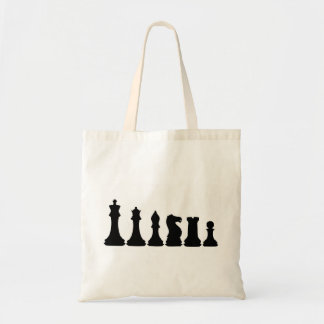 Silhouette of Chess Pieces Chessman Tote Bag