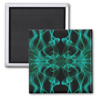 Silhouette of Colored Smoke Abstract green black Magnet