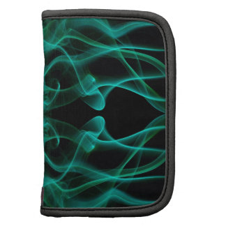 Silhouette of Colored Smoke Abstract green black Folio Planner