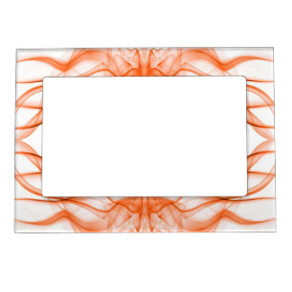 Silhouette of Colored Smoke Abstract orange Magnetic Frame