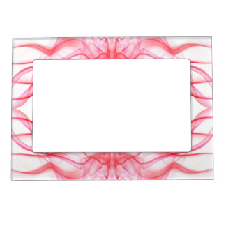Silhouette of Colored Smoke Abstract red on white Magnetic Frame