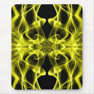 Silhouette of Colored Smoke Abstract yellow Mouse Pad
