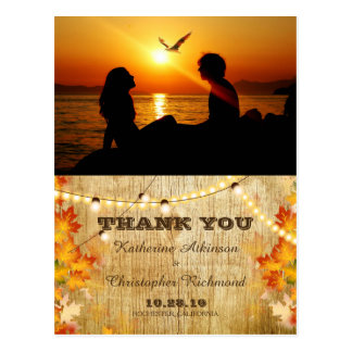 Silhouette of couple in sunset on the beach /fall postcard