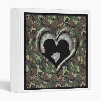 Silhouette of Couple Kissing (Camoflauge) Binder