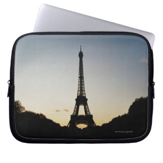 Silhouette of Eiffel Tower Laptop Computer Sleeve