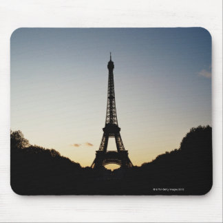 Silhouette of Eiffel Tower Mouse Pad