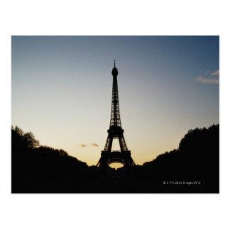 Silhouette of Eiffel Tower Postcard