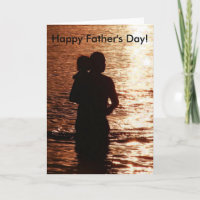 Silhouette of Father and Child Card
