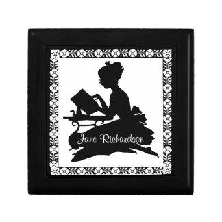 Silhouette of Girl Reading Treasure Box