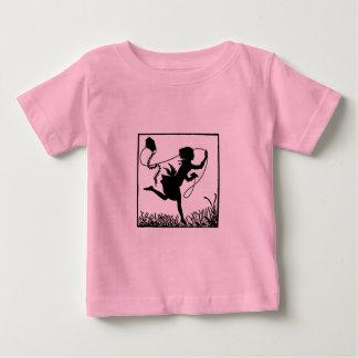 Silhouette of Girl Running with Kite Shirt