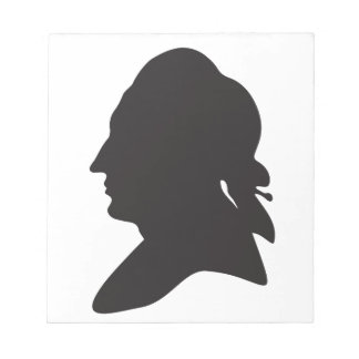 silhouette of Goethe Notepad