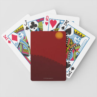 Silhouette of Great Wall of China Bicycle Playing Cards