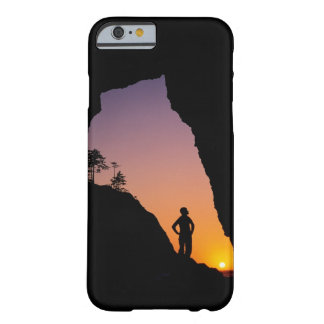 Silhouette of hiker, Point of the Arches, Barely There iPhone 6 Case
