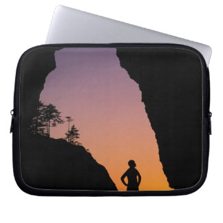 Silhouette of hiker, Point of the Arches, Computer Sleeves