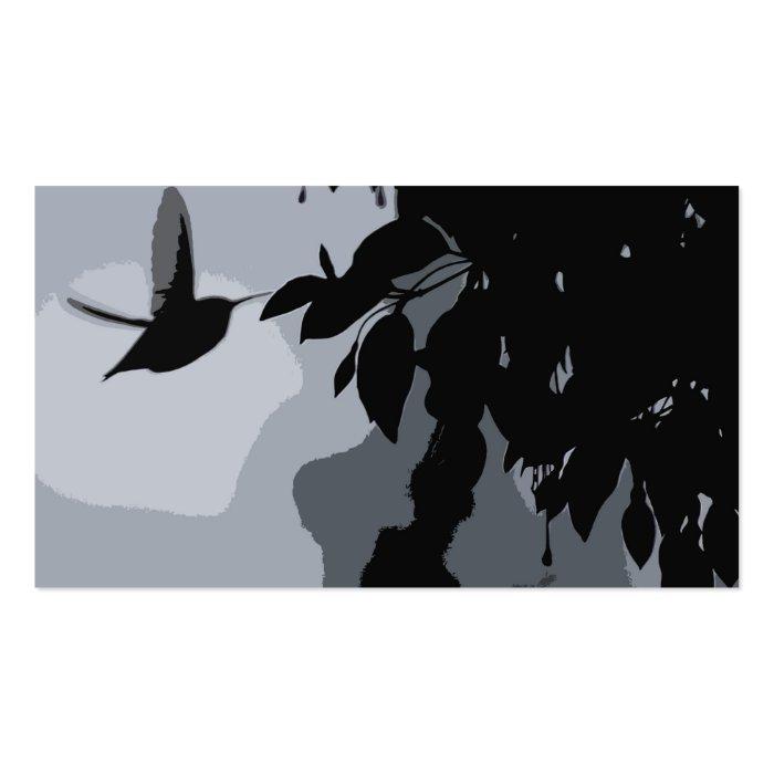 Silhouette Of Hummingbird & Fushia Business Card