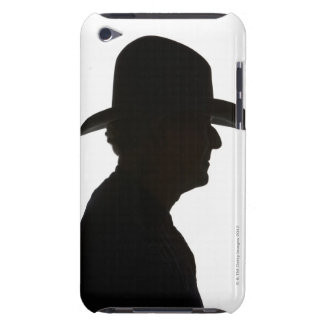 Silhouette of man in profile wearing traditional iPod Case-Mate case