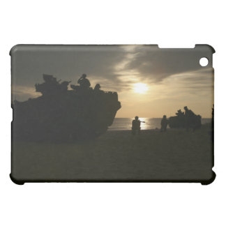 Silhouette of Marines Case For The iPad Mini