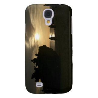 Silhouette of Marines Galaxy S4 Case