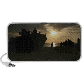 Silhouette of Marines iPod Speakers