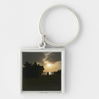 Silhouette of Marines Keychain