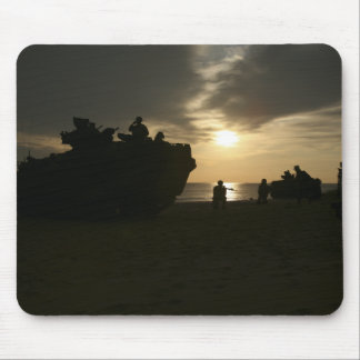 Silhouette of Marines Mouse Pad
