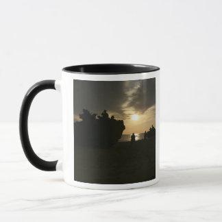 Silhouette of Marines Mug