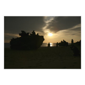 Silhouette of Marines Photo Print