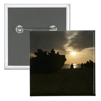 Silhouette of Marines Pinback Button
