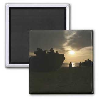Silhouette of Marines Refrigerator Magnets