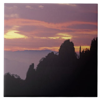 Silhouette of Mt. Huangshan (Yellow Mountain) at Ceramic Tile