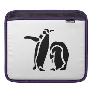 Silhouette of Penguins Sleeves For iPads