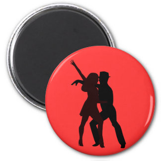 Silhouette of Salsa Dancers Magnet