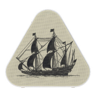 Silhouette of Ship with Billowing Sails Speaker