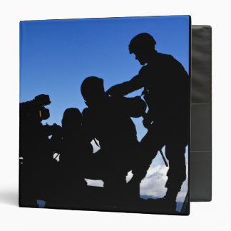 Silhouette of soldiers binder