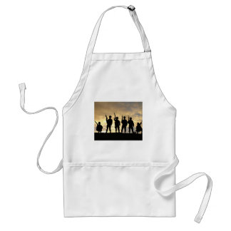Silhouette of Soldiers in 101st Airborne Division Adult Apron