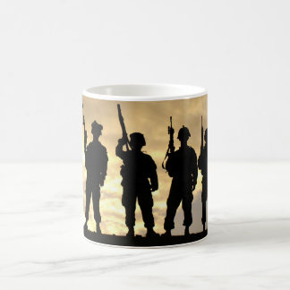 Silhouette of Soldiers in 101st Airborne Division Coffee Mug
