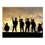 Silhouette of Soldiers in 101st Airborne Division Postcard