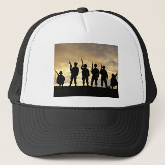 Silhouette of Soldiers in 101st Airborne Division Trucker Hat