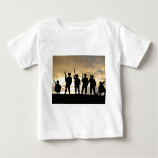 Silhouette of Soldiers in 101st Airborne Division Tshirts