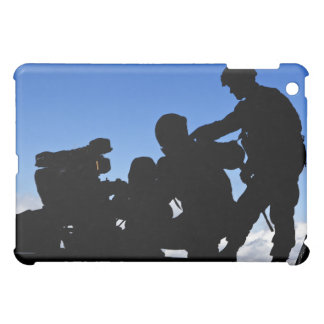Silhouette of soldiers iPad mini cases