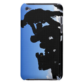 Silhouette of soldiers iPod Case-Mate case