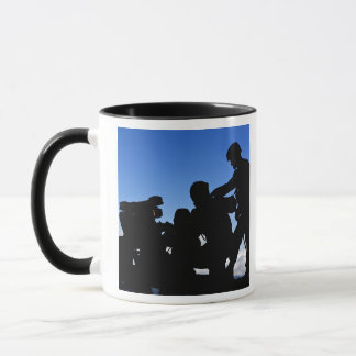 Silhouette of soldiers mug