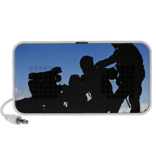 Silhouette of soldiers portable speaker