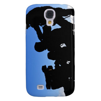 Silhouette of soldiers samsung s4 case
