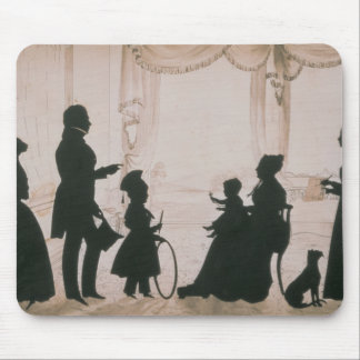 Silhouette of the Camsie Family of Mouse Pad